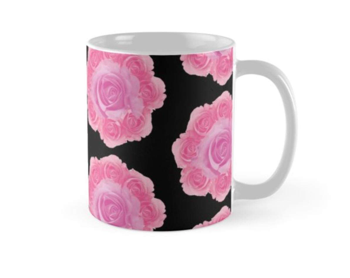 """Mug """"Rose, rose"""" Chez RedBubble"""