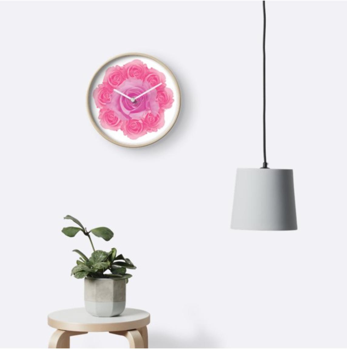 """Horloge """"Rose is a rose"""""""