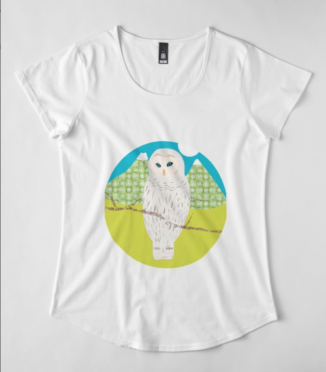 "Tshirt ""Blanche, la chouette"" by Rosa Lee Design"